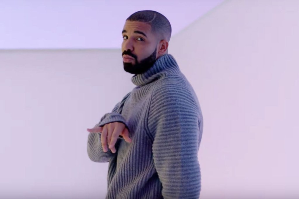 Drake in the Hotline Bling video
