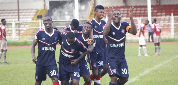Ifeanyi Ubah FC celebrate goal