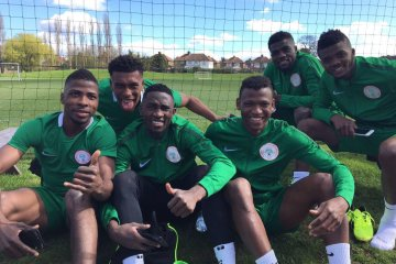 Kelechi Ihenacho, Alex Iwobi and other Super Eagles teammates