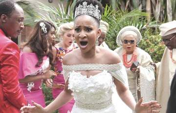 Adesua Etomi in the Wedding Party
