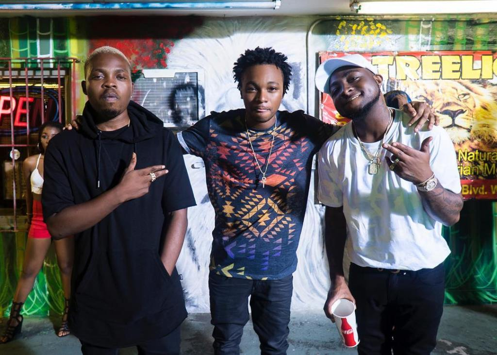 Olamide, AyoJay and Davido in Miami on set the Summer Body video shoot