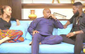 Falz and Laila Host Fela Durotoye on Season Opener of On The Couch
