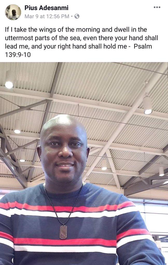 Ethiopian Airlines Nigerian Victim