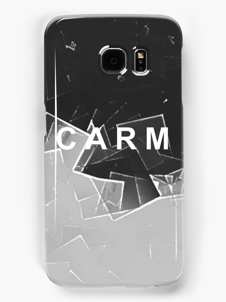 CARM Fractured Black and White Samsung Galaxy Case