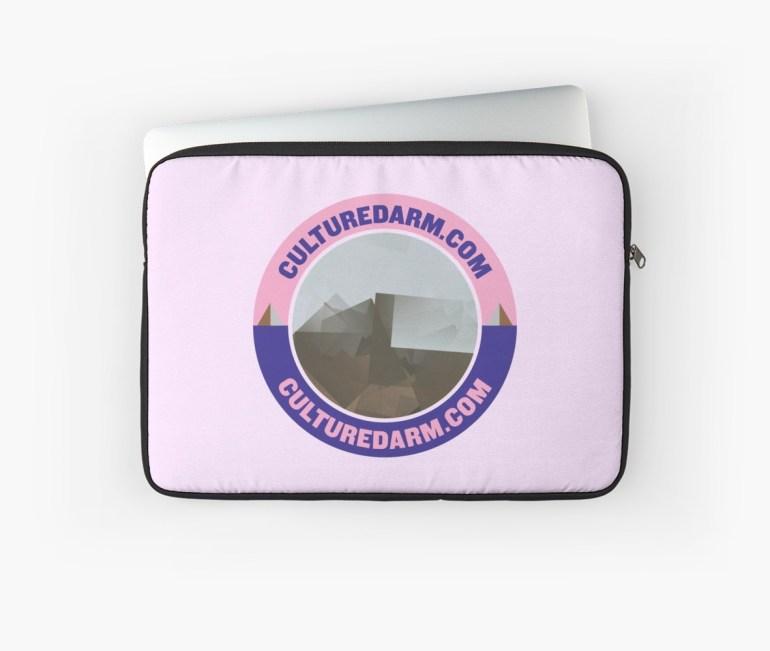 Culturedarm Circle Indigo Lavender Pink Laptop Sleeve