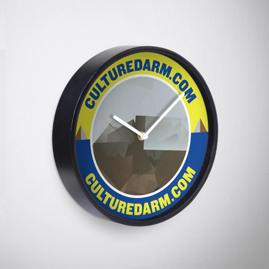 Culturedarm Circle Sapphire Lemon Clock