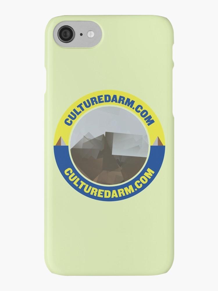 Culturedarm Circle Sapphire Lemon iPhone Cover