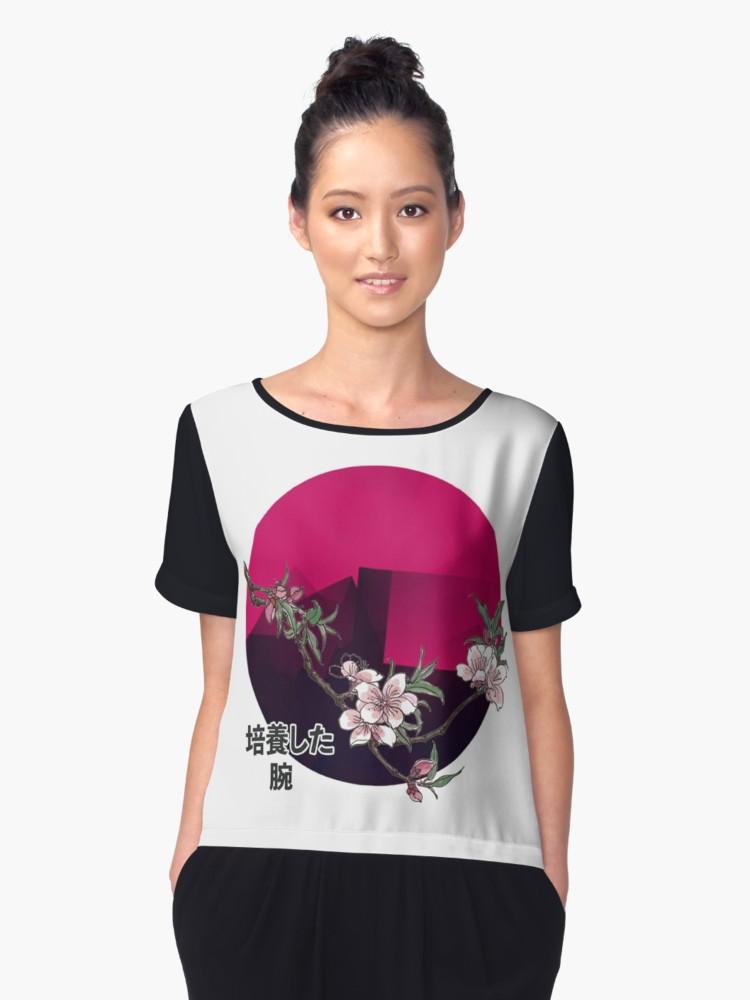 Culturedarm Japan Peach Blossom Sun Chiffon Top