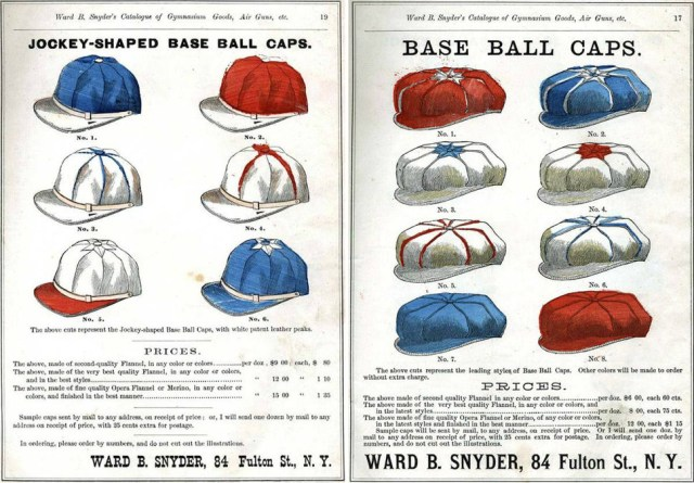 Early Baseball Caps