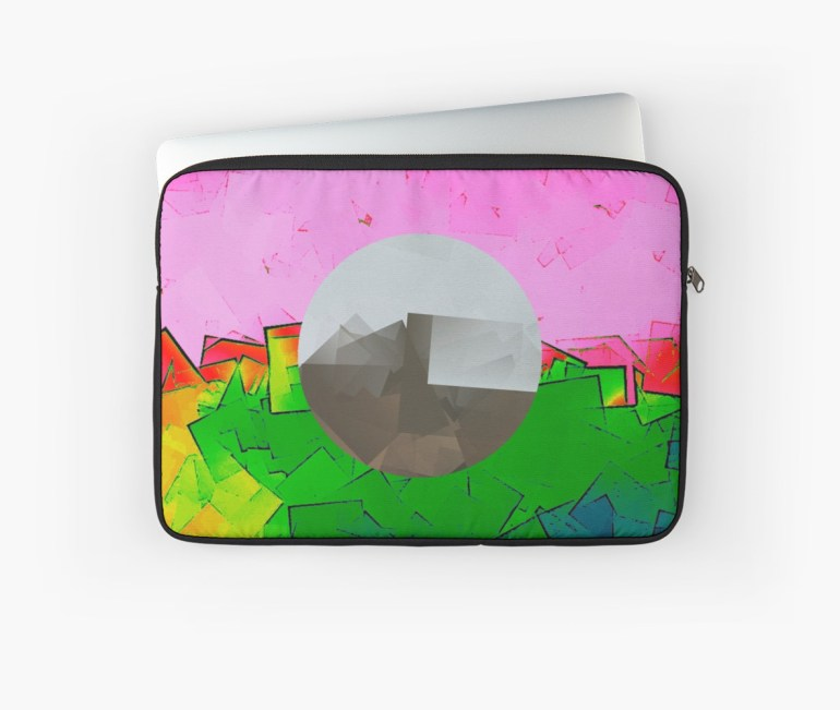 Culturedarm Fractured Pink and Green Laptop Sleeve
