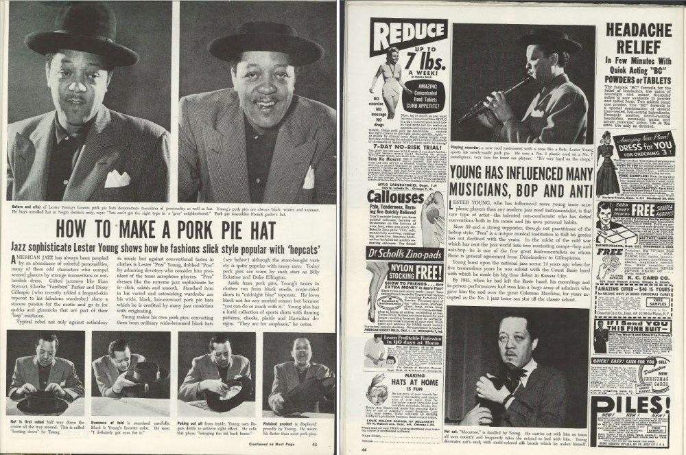 Lester Young Pork Pie Hat