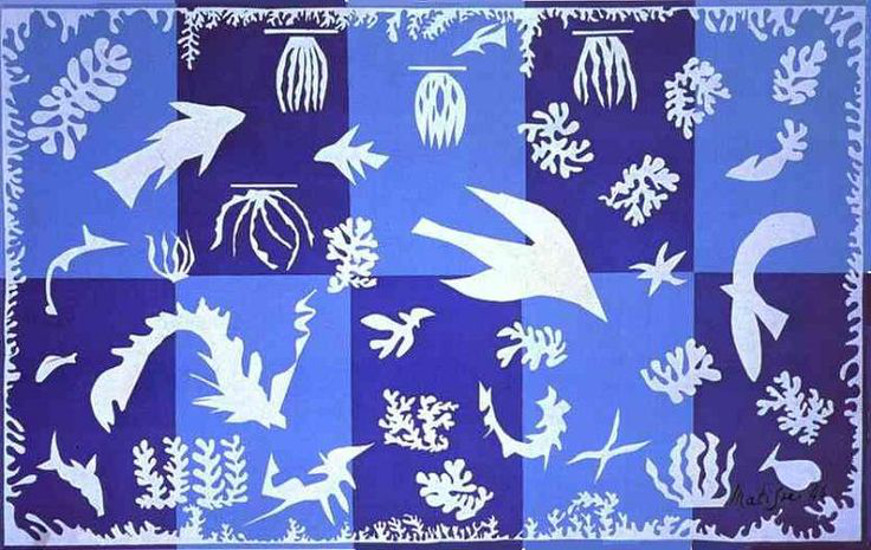 w reading and the oasis of matisse polynesia the sea by henri matisse 1946 design for the tapestry factory at beauvais