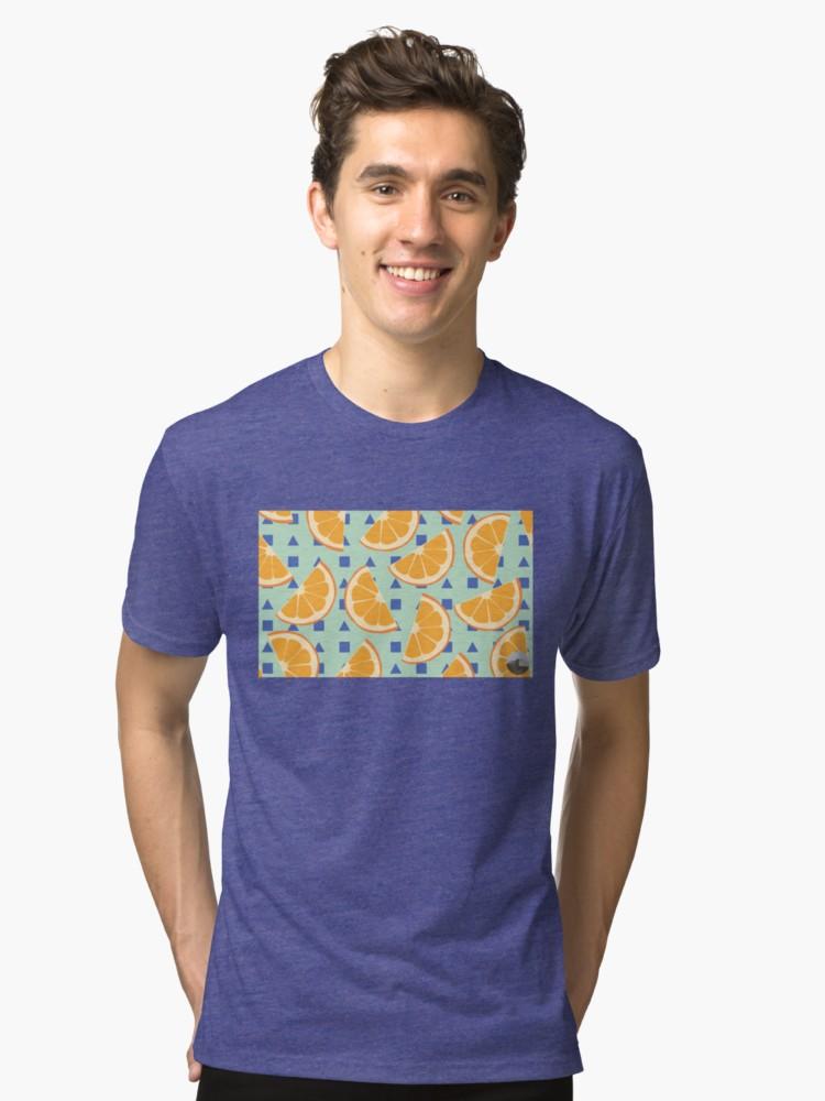 Culturedarm Oranges Royal Tri-Blend T-Shirt