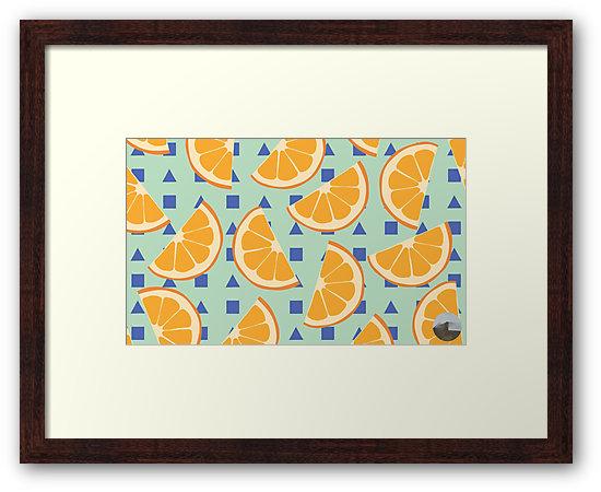 Culturedarm Oranges Small Framed Print