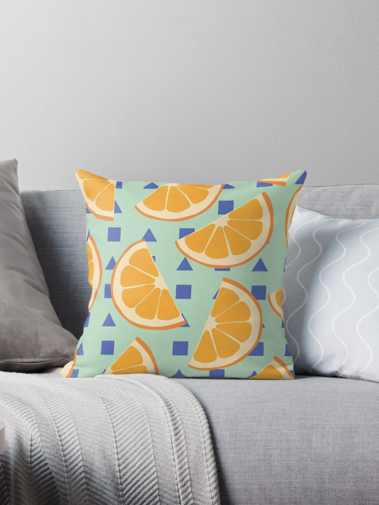 Culturedarm Oranges Throw Pillow