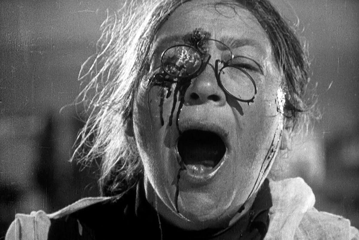 Brutal close-up from the massacre of civilians scene of Battleship Potemkin (1925)