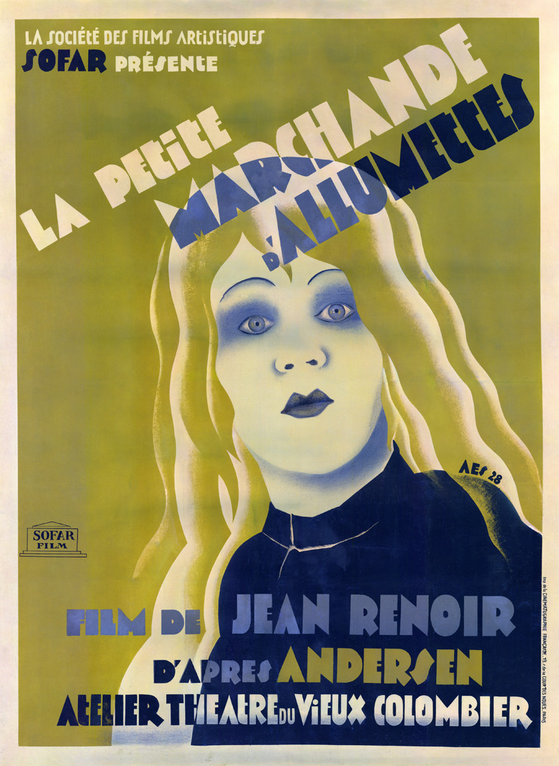 Filmaffisch för The little match girl 1928