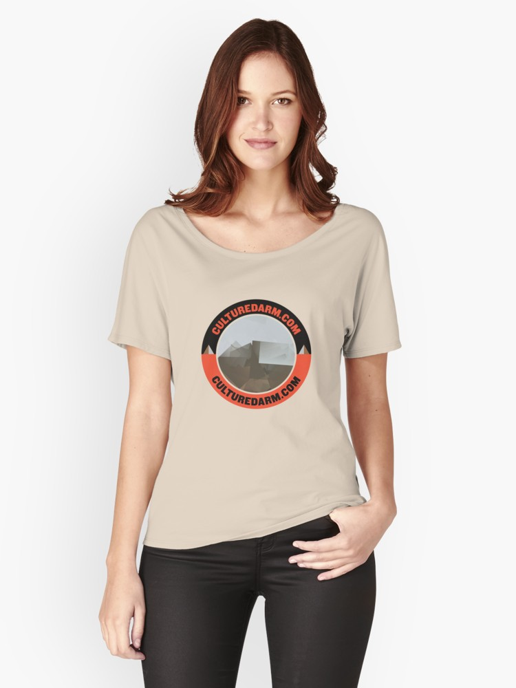 Culturedarm Circle Scarlet Off-Black Creme Relaxed T-Shirt
