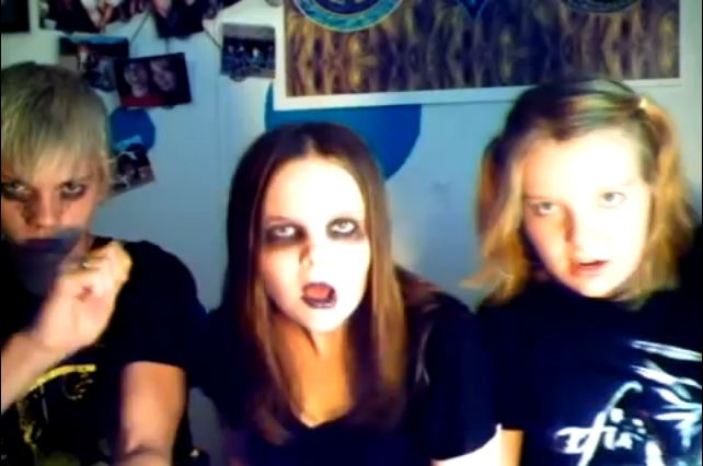 Screengrab from Awful Video with Emo Kids