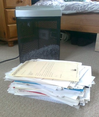 All of Danny's rejection letters. That's a lot to take.