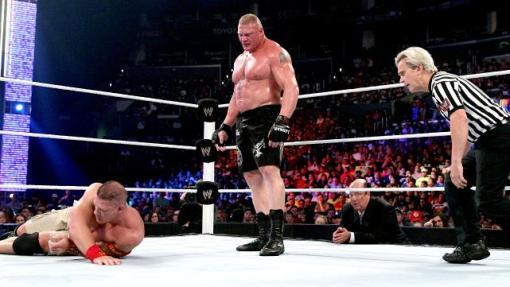 Brock kicks Cena's ass
