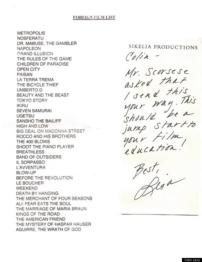 Martin Scorsese's Foreign films