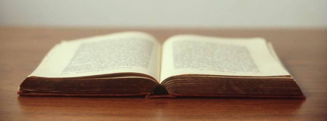 photo of open book