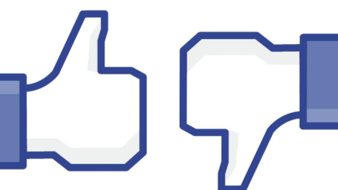 Facebook like and dislike button
