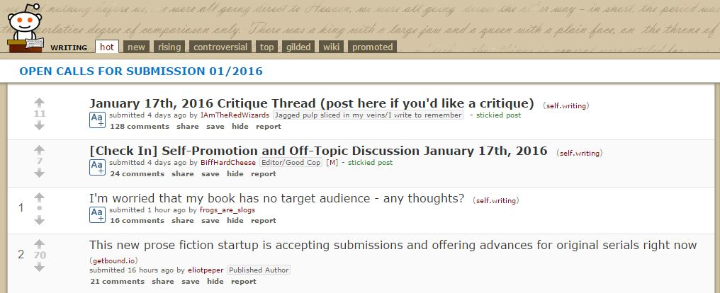 5 Best Writing Subreddits | Cultured Vultures