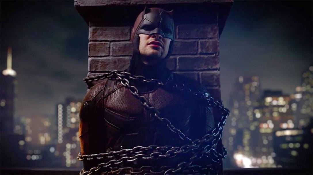 Daredevil, in chains