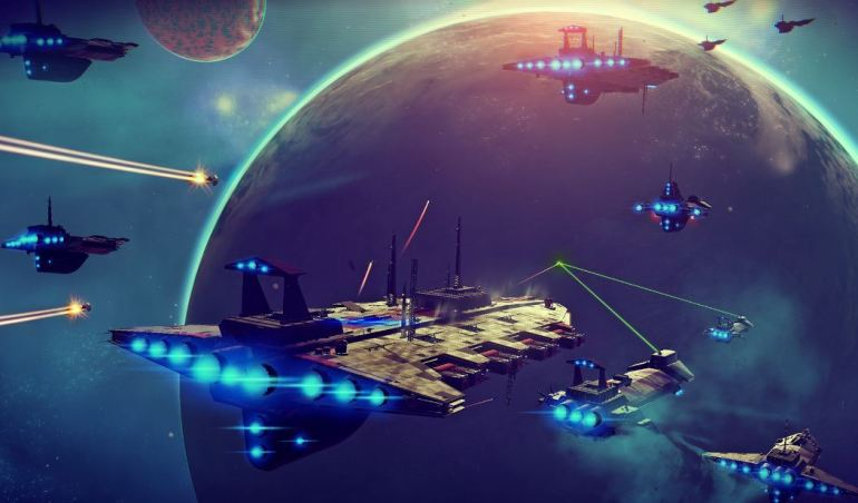 No Man's Sky space battles