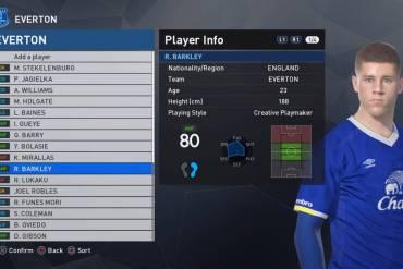 Everton kit PES 2017