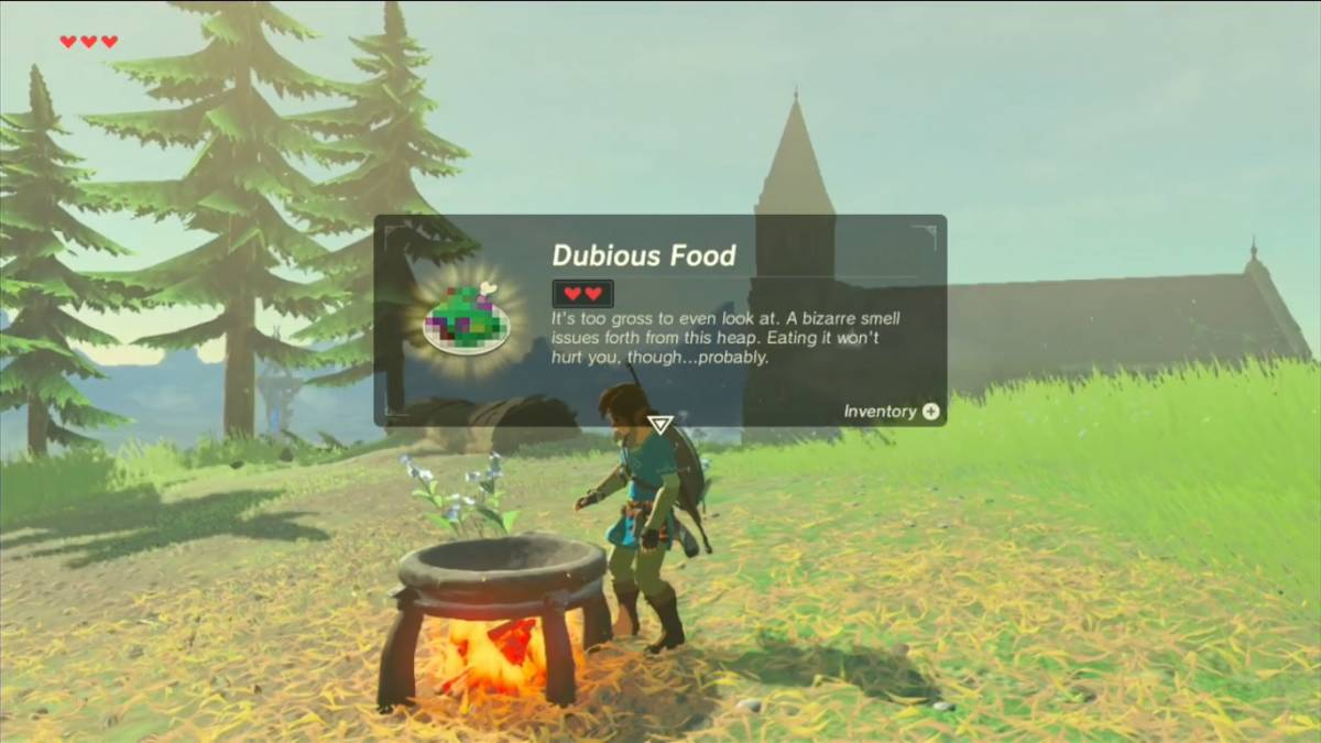 The Legend Of Zelda Breath Of The Wild Link Shows Off His Cooking