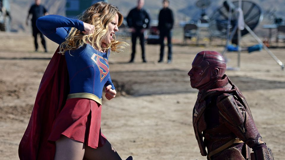 Supergirl and Red Tornado
