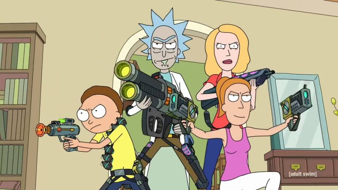 Rick, Morty, Beth and Summer