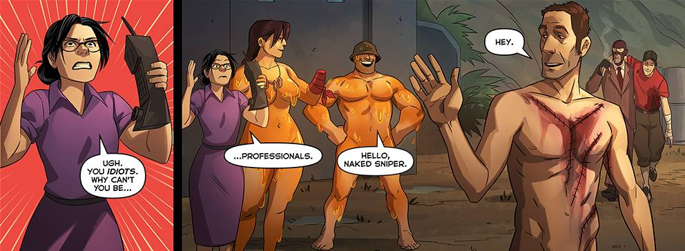 COMIC REVIEW: TF2 Comic #6 - 'The Naked and the Dead