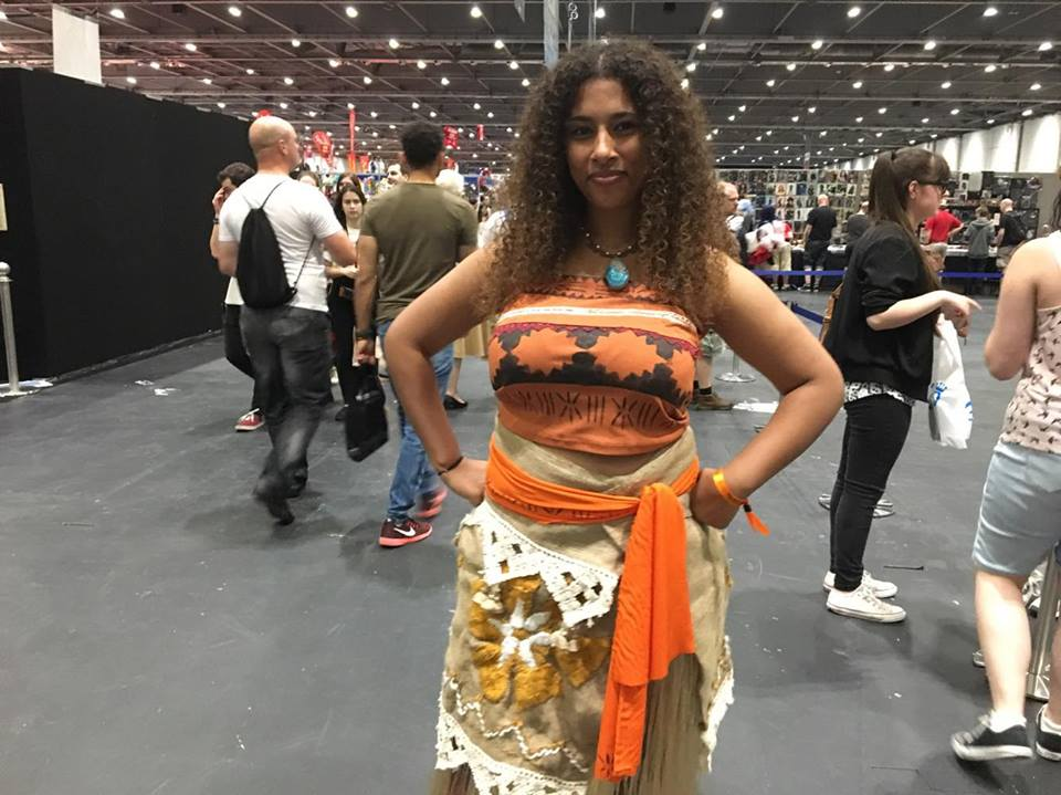 Moana cosplayer at MCM