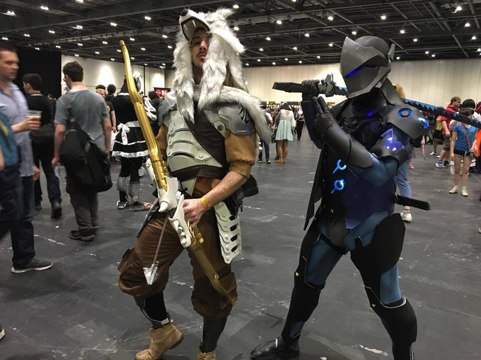 Hanzo and Genji cosplayers at MCM