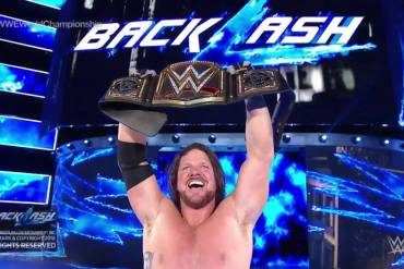 AJ Styles at Backlash