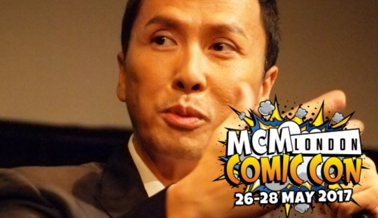 Donnie Yen, martial arts master, with MCM London logo