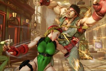 cammy delivering her v skill to ryu