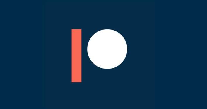 Blue Patreon logo