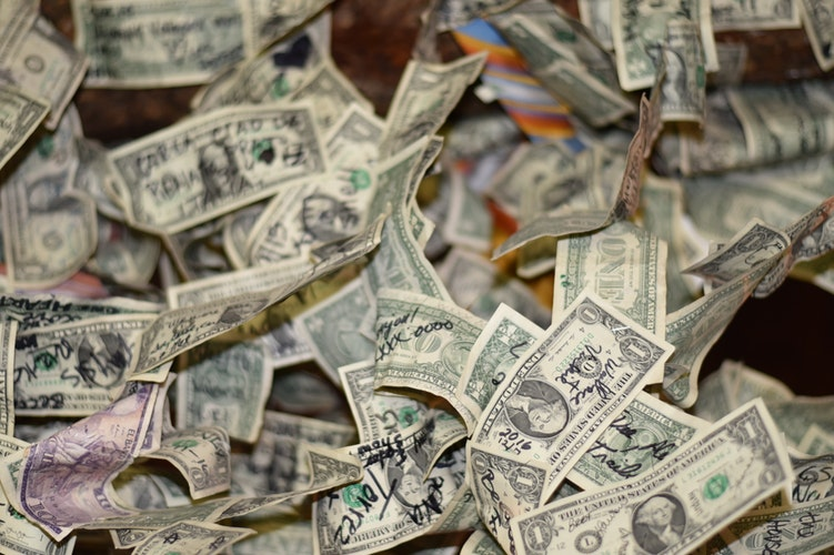 Dollar bills by Olga DeLawrence