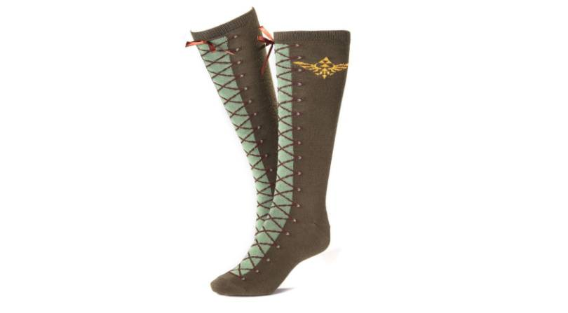 Zelda themed brown boot style socks