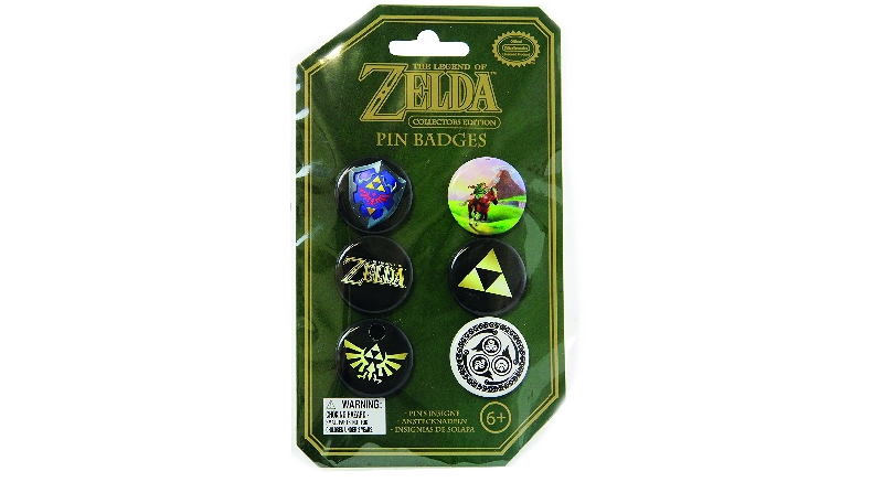Zelda tin pin badges