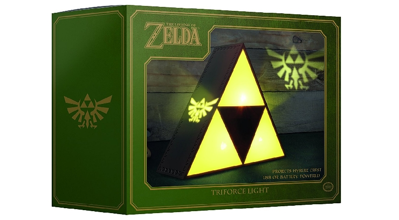 Zelda Tri-Force yellow light in box