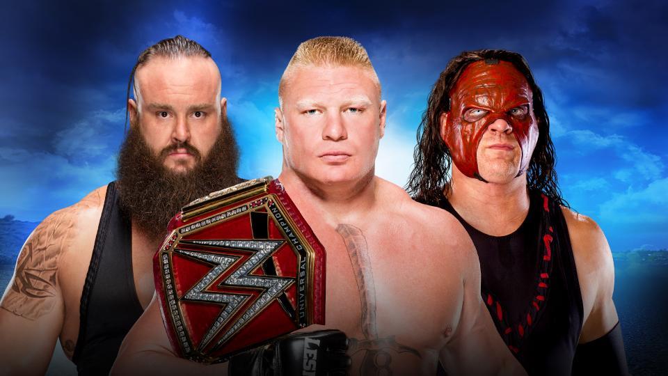 Lesnar vs Kane vs Strowman