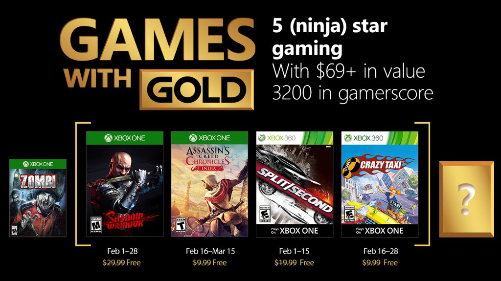 February 2018's Xbox Games With Gold Include Shadow Warrior And