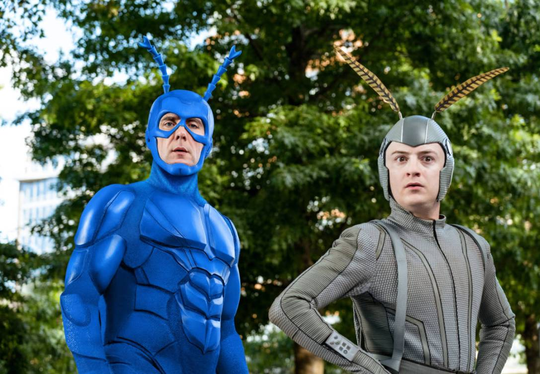 Peter Serafinowicz as The Tick and Griffin Newman as Arthur Everest