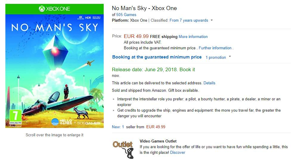 No Man's Sky Xbox One English